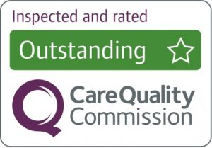 Care Quality Commission logo to show Outstanding rating